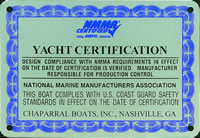 Yacht Certification plate